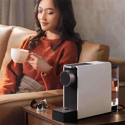 SCISHARE Capsule Coffee Machine Mini