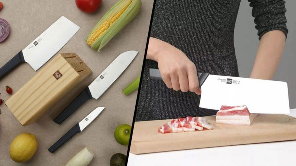 شیائومی از ست 4 تایی چاقوی آشپزخانه HuoHou رونمایی کرد