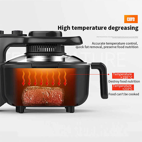 سرخ کن بدون روغن LIVEN KZ-J5000B Air Fryer