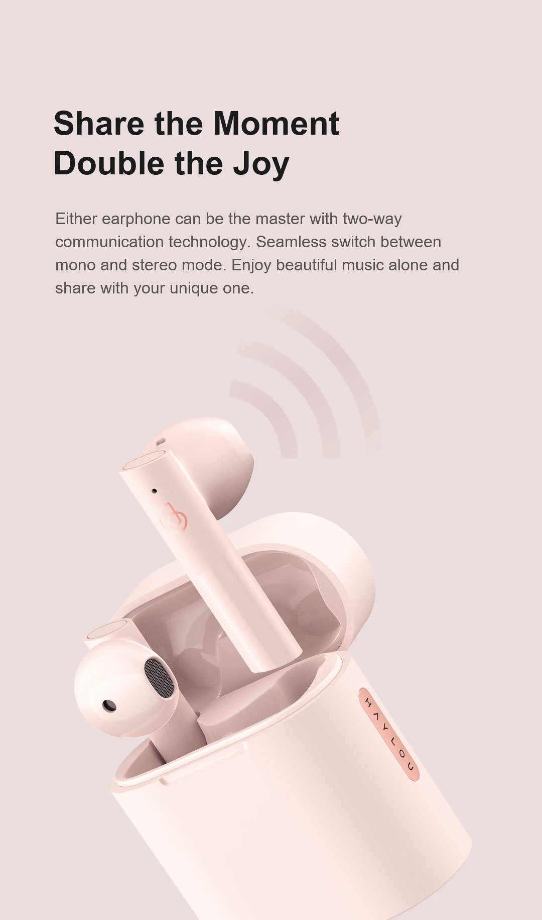 هدست بلوتوث شیائومی هایلو Haylou MoriPods TWS Bluetooth V5.2 E