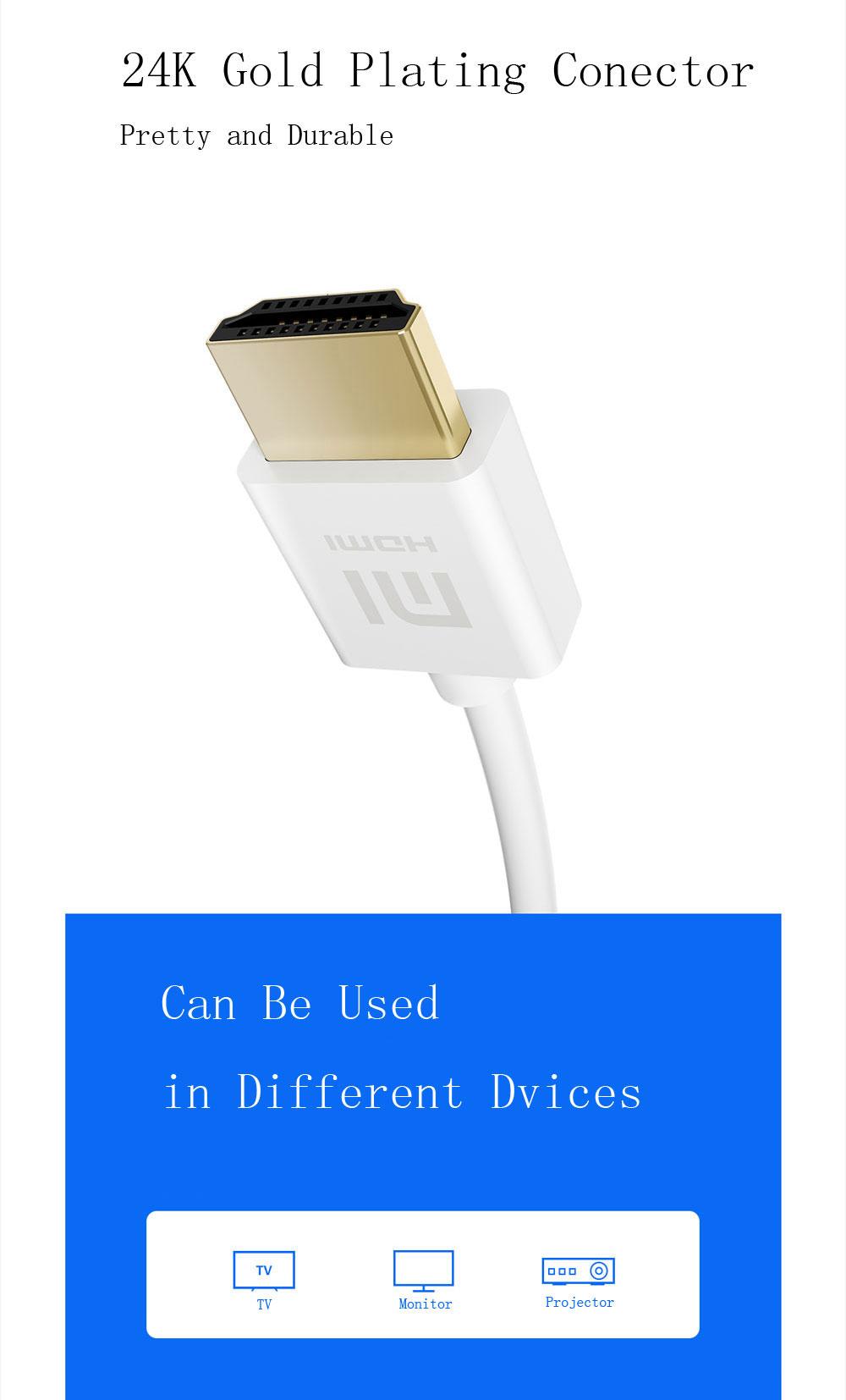 کابل HDMI شیائومی مدل Xiaomi XY-H-3 HDMI Cable